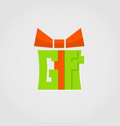 gift logo present logo design for holidays vector image