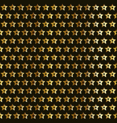 Gold stars pattern vector