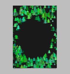 Green abstract random seasonal pine tree card vector