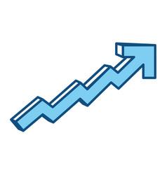 Growing arrow business vector