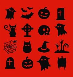 Halloween Isometric Icons Set vector image
