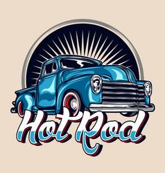 Hot rod vintage car vector