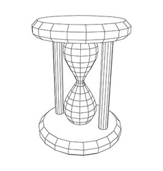 Hourglass wire frame vector