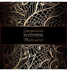 Invitation decorative golds 09 vector