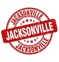 Jacksonville red grunge round vintage rubber stamp vector
