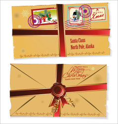 Letter for Santa Claus vector image
