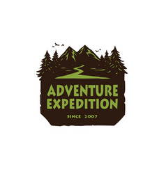 logo for camping mountain adventure emblems icon vector image