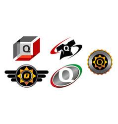 Logotype q modern template set vector