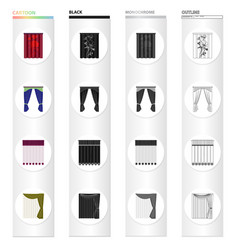 Louvers curtains light and other web icon in vector