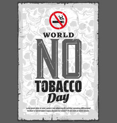 no tobacco day smoking prohibition or quitting vector image