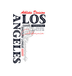 os angeles sport typography design vector image