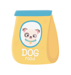 Package food dog domestic animal pets vector