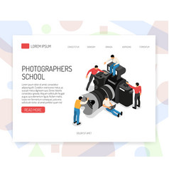 Photographer concept isometric vector