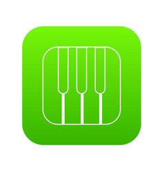 piano keys icon green vector image