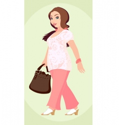 Plus size fashion girl vector