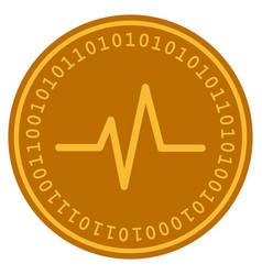 Pulse digital coin vector