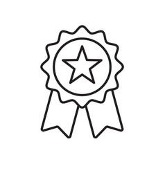 reward grade award ribbon star icon best choice vector image