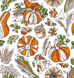 Seamless bright Thanksgiving pattern vector