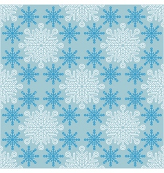 seamless Christmas pattern with snowflakes vector image