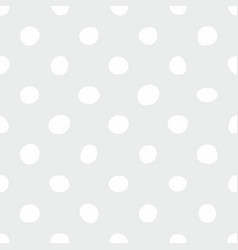Seamless pattern with white polka dots on grey vector