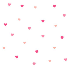 Seamless polka dot pink hearts pattern vector