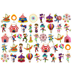 Set different circus objects vector