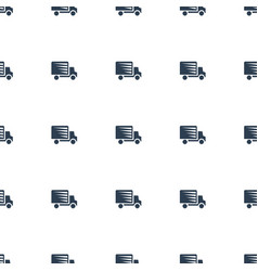 shipping truck icon pattern seamless white vector image