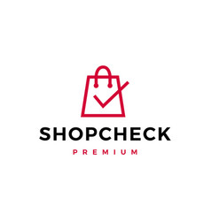 shop check logo icon vector image