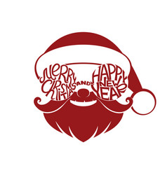 sign of santa claus vector image