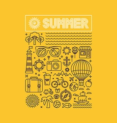 summer and vacation poster vector image