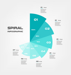 sunburst-pie chart color infographics step by vector image