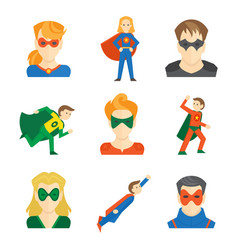 Superhero icon flat vector