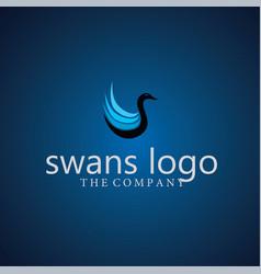 Swans logo ideas design vector