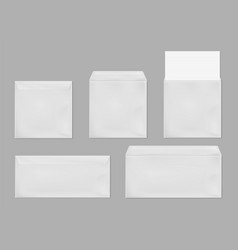 template white square and standart envelope vector image