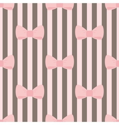 Tile decoration wallpaper with pink pastel bows vector