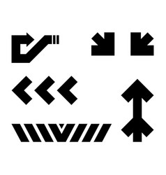 Traffic signs futuristic icons vector