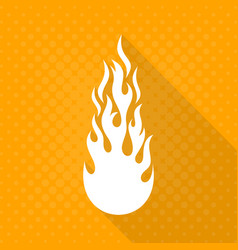 white fire flame icon vector image