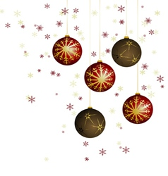 Winter background with christmas decoration vector image
