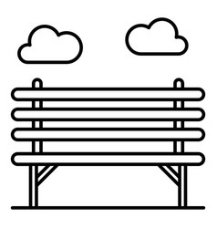 wood park bench icon outline style vector image