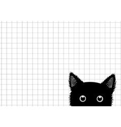 Black Cat Grid Background vector image