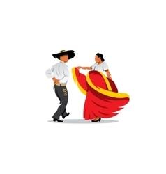 Mexico Dancers Participates at the Cinco De Mayo vector image vector image