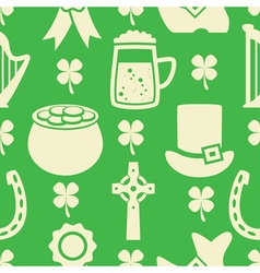 pattern of irish St Patricks Day vector image