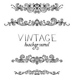 Set of vintage ornate elements for page decoration vector image