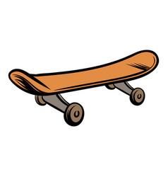 skateboard icon cartoon vector image