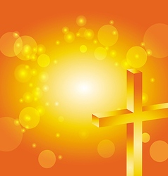 easter jesus cross background 4 vector image vector image