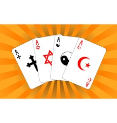 four religious aces vector image