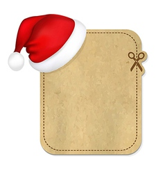 Retro Banner With Cap Of Santa Claus vector image vector image