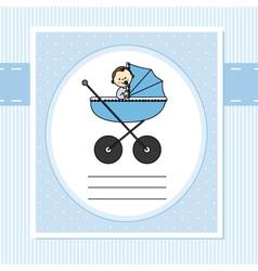 Birth card boy vector