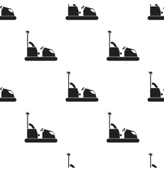 Bumper car icon in black style isolated on white vector image