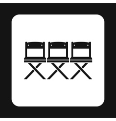 Cinema seats icon simple style vector image vector image